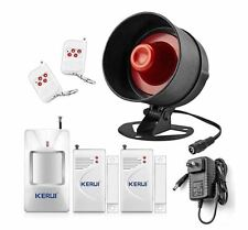 Alarm Siren Security System Remote Wireless Motion Sensor Burglar Home Outdoor