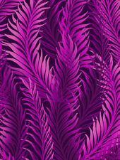 Fabric #2531 Magenta Fern Leaves on Black Jason Yenter IBF, Sold by 1/2 Yard