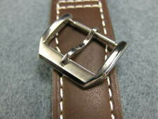 New 18mm Swiss 316L Silver Stainless Tang Buckle for Iwc Leather Band Tongue x1