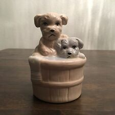 Vintage Artmark Small Dogs, Puppies In A Bath Figurine