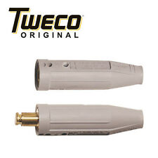Tweco 2-WPC Male x Female Cable Connector For Sizes 1/0 2/0 3/0 4/0, 94251225