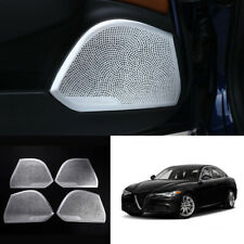 For Alfa Romeo Giulia 2017-2020 Aluminum alloy Interior door speaker cover trim