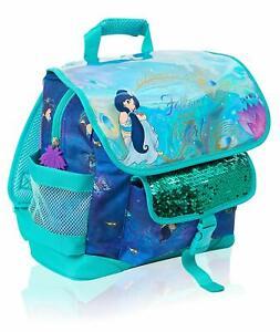 Disney Girls Satchel Backpack Aladdin Movie Sequin Princess Jasmine School Bag