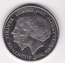 1 Gulden Niederlande 1980 Thronbesteigung von Beatrix Netherlands