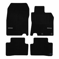 LUKNI002 TAILORED Black floor Car Mats with logo QASHQAI mk2 J11 2014-up 4pcs
