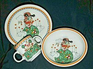 Villeroy & Boch  KIDDY SET SWITCH Child' s Cup Plate & Bowl CLOWNS As New