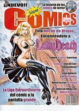 REVISTA SUPER COMICS MEXICO, LADY DEATH, SUPERMAN, MEMIN PINGUIN, RAY PARK
