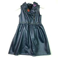 Disney collection evie descendents 2 dress girls size 9/10 medium blue-grey