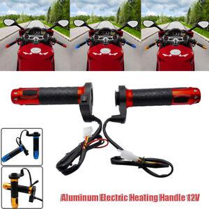 "7/8"" 12V Motorcycle Handlebar Electric Hot Heated Grips Warmer Winter Adjustable"