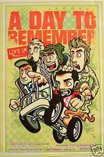 "A DAY TO REMEMBER ""CARTOON GROUP IN CAR"" POSTER FROM ASIA - Metalcore Music"