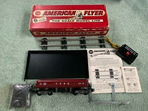 American Flyer #25060 CB&Q Dump Hopper RARE w/original box tray button rail+ 60s