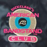 Vintage Dick Clark American Bandstand Club Bomber Jacket Navy Blue Americana 2XL