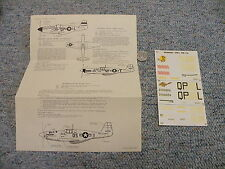 Authenticals IPMS decals 1/48 P-51B Mustang Sheet#2   L119