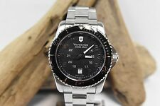 VICTORIOX SWISS ARMY 241436 MAVERICK GS BLACK DIAL STAINLESS STEEL MEN'S WATCH
