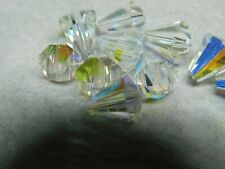 Swarovski Crystal Clear Shimmer 17x12mm Artemis 5540 Bead; Faceted Cone Bead Cap