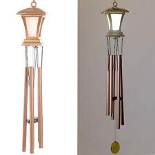 """Grande Bronze 36"""" Sinos Dos Ventos Com Lanterna Led Solar Brilha A Noite Sinos Dos Ventos"""