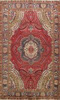 Floral Semi Antique Tebriz Hand-knotted Area Rug Wool Oriental Home Decor 7'x10'