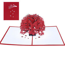1 pc 3D Maple Pop Up Card Handmade Popup Card Anniversary Card Greeting Card
