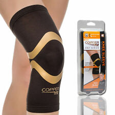 Copper Fit Pro Series Performance Compression Knee Sleeve, Black, Large