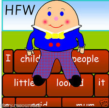 100 HFW Teaching Resources  Bricks word wall LETTERS &  SOUNDS EYFS KS1 Resource