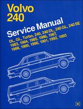 BENTLEY WORKSHOP SERVICE REPAIR MANUAL VOLVO 240 DL GL SE TURBO 1983-1993