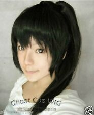 HOT Cosplay Gintama Long Black Straight Wig With Clip Ponytail 60cm STR.15