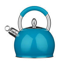 Whistling Kettle Stainless Steel Blue Attractive Design 2.4ltr Brand New