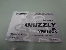 Yamaha Grizzly 80 Owners Manual 2008