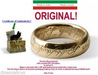 LORD OF THE RINGS UNICO ANELLO SCRITTE ORO 18 o 21 mm Il Signore Degli Anelli