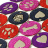 Dog ID Tags, LARGE 32mm Reflective Glitter PET Tag, 14 COLOURS + ENGRAVED OPTION