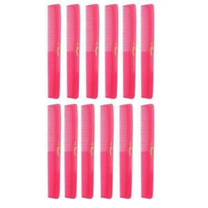 Cleopatra Neon Pink Styling Combs #400- 1 Dozen