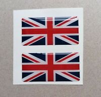 Union Jack 3D Gel Domed Sticker Flag Domed Sticker Flag Car Decal 50x25mm x2