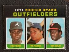 1971 OPC BASEBALL 709 DUSTY BAKER TOM PACIOREK DON BAYLOR ROOKIE STARS