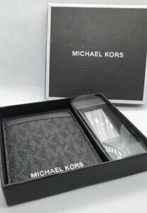 MICHAEL KORS MEN'S CARD HOLDER & MONEY CLIP SET Black