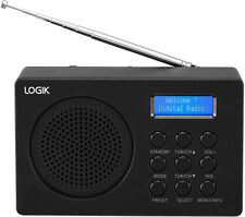 LOGIK Portable DAB Radio L2DAB16 LCD Display 20 Presets Black
