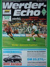Programm 1992/93 SV Werder Bremen - Eintracht Frankfurt