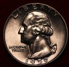 Uncirculated 1959-D Denver Mint Silver Washington Quarter