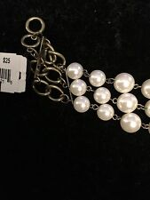 Strand Pearl Bracelet (82421)/#10 Cookie Lee Brass 3