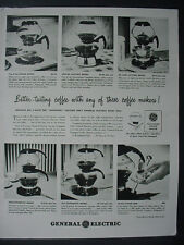 1947 General Electric Coffee makers diff. Models Vintage Print Ad 12554