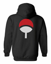 Uchiha Naruto anime clan symbol mens black hoodie sweater jacket