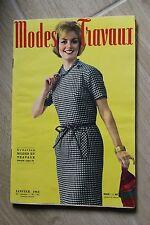 MODES ET TRAVAUX N°745 1963 mode fashion couture tricot pages poupées PATRON