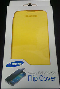 Samsung Original FlipCover für Galaxy S4 GT-I9505 SchutzhülleCaseTasche-Gelb NEU