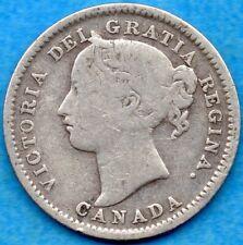 Canada 1900 10 Cents Ten Cent Silver Coin - G/VG