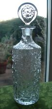 NICE VINTAGE WHITEFRIARS TEXTURED CRYSTAL GLASS GLACIER DECANTER M142