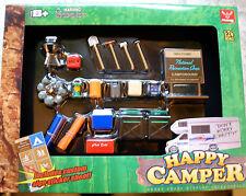 18430 Outdoor Zubehör, Camping Zubehör, Grill, Happy Camper, 1:24, Hobby Gear