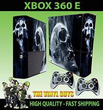 XBOX 360 E SMOKEY SKULL DARK ART GOTHIC BONES STICKER SKIN & 2 PAD SKIN
