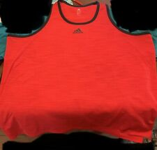 Adidas Big & Tall Men's Training Tank Top Size 3Xlt Red