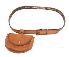 DIESEL Leder Designer Gürtel mit Tasche BOCKET Leather Belt Cintura  80cm #39