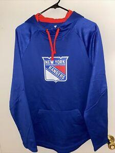 New York Rangers Fanatics Branded Blue Hoodie Sweatshirt Mens Large L