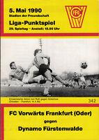 DDR-Liga 89/90 FC Vorwärts Frankfurt (Oder) - Dynamo Fürstenwalde, 05.05.1990